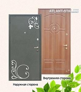 наружный декор металлической двери